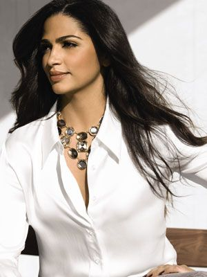 A nice white blouse with accessories is a great look for work or play. We're loving the necklace, and Camilla says the collection is full of accessories for day and night.