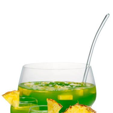 <i>1 c. Midori Melon Liqueur<br />1 c. Cabo Wabo Tequila Blanco<br />1 c. mango juice<br />3 c. pineapple juice<br />Splash of Sprite<br />Garnish: pineapple and mango slices</i><br /><br />Combine all ingredients in a punch bowl or pitcher filled ice. Stir gently and garnish with pineapple and mango slices.<br /><br /><i>Source: Midori Melon Liqueur</i>