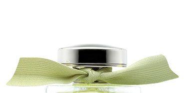Product, Liquid, Perfume, Rectangle, Glass bottle, Silver, Cosmetics, Label,