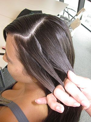 Part your hair either to the side or directly down the middle. If you have side bangs, parting it to the side would be best. Grab 3 pieces of hair to start making a normal braid, starting from the top, side of your head (pick whichever side you want).
