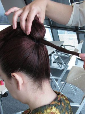 Ear, Hairstyle, Forehead, Red, Beauty salon, Style, Fashion, Hair coloring, Temple, Hair care,