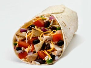 <p><strong>NIX:</strong></p> <p>Burrito<br />738 cals/86g carbs</p> <p>Chicken quesadilla<br />563 cals/37g carbs<br /> <br /><strong></strong></p> <p><strong>SWAP FOR: </strong></p> <p>Burrito bowl with greens, beans, cheese, chicken and pico de gallo (skip rice) 340cals/30g carbs<br /> </p>