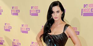 Katy Perry looked stunning in a floor length Elie Saab dress that showed off just the right amount of skin.