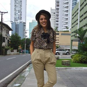<p>The mix of animal print blouses, high-waist trousers and oxford booties gives this retro look a mod twist. Llana. </p>