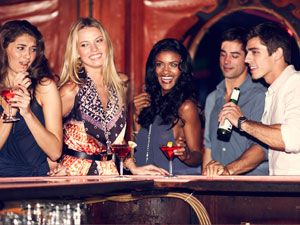 """<p>We recommend: Go for a lounge or neighborhood spot, much more likely to weed out the douche factor<br /> <br />The approach<br /> <br />1)    See a muscly hottie who actually seems smart? Send him two drinks (one for you and one for him). It's sure to be cute conversation starter.<br />2)    Can't get a word in edgewise with the sexy dude surrounded by his boys? Interrupt him for a minute to introduce yourself, then, as our guy blogger, Eduardo, advises (link to his post on how to meet men), saying, """"Hey, you seem fun, if you want to talk later, I'll be chillin' with my girls over here for another hour or so.""""</p>"""