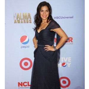 America Ferrera wore a long elegant navy dress by Carlos Miele. Very classy.