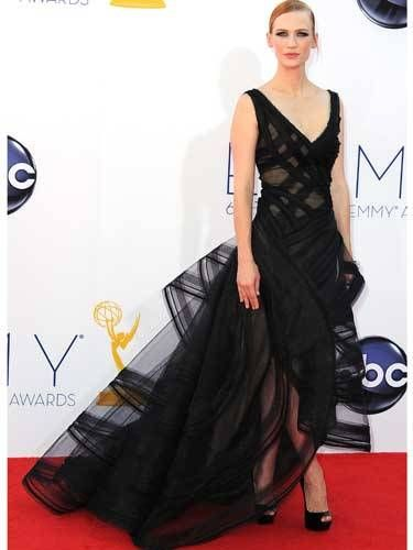 The <i>Mad Men</i> star's arty Zac Posen was simply stunning.