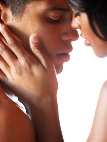 He could just be nervous or clueless. Either way, make a game of it. Tell him where you want to be kissed and work your way up to the lips. Once he's there, playfully ask him to mimic you and show him what you like.