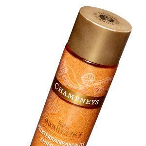 "<p>Gold flecks highlight the skin&#x3B; jojoba & sesame oils condition it.</p><p><a href=""http://www.target.com/p/champneys-mediterranean-bliss-body-oil-2-5-oz/-/A-13880504?ref=tgt_adv_XSG10001&AFID=Google_PLA_df&LNM=|13880504&CPNG=health%20beauty&ci_sku=13880504&ci_gpa=pla&ci_kw="" target=""_blank"">Champneys Mediterranean Bliss Shimmering Body Oil</a>, $10.99</p>"