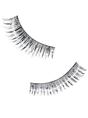 "<p>Basic falsies are so last year. Try a bejeweled pair for fun, notice-me eyes.</p> <p><a href=""http://www.ardelllashes.com/"" target=""_blank"">Ardell</a>, $6.99</p>"
