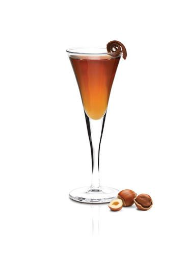 <i>1 oz. Frangelico<br /> 1 oz. SKYY Vodka<br /> ¾ oz. cold espresso</i><br /><br />   Combine all ingredients in a cocktail shaker filled with. Shake vigorously and strain into a glass.<br /><br />  <i>Source: Campari America</i>