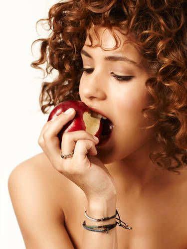 Don't go more than 3 to 4 hours without a meal or snack. You'll get super hungry and freak out and eat everything in sight when you finally have a second to settle, and then you'll just feel nasty and bloated. Try an apple with peanut butter, whole-fat cheese with a fruit, a handful of nuts with a piece of fruit, or a glass of whole milk.