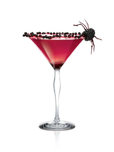 "<i>1 oz. X-Rated Fusion Liqueur ½ oz. SKYY Vodka<br /><br /> 1½ oz. black raspberry liqueur<br /> 3 blackberries<br /><br /></i> Muddle blackberries in a cocktail shaker. Add ice and remaining ingredients. Shake vigorously and strain into a martini glass.<br /><br /> <i>Source: <a href=""http://skyyvodka.com/"" target=""_blank"">SKYY Vodka</a></i>"
