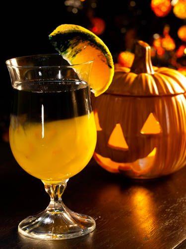 6 oz. orange juice   4 oz. black vodka   Pour orange juice into a glass and top with vodka.   Source: Andrea Correale, Elegant Affairs