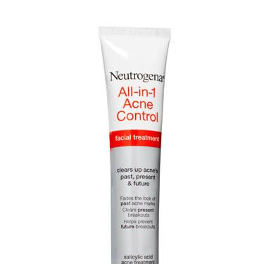 Neutrogena All-in-1 Acne Control Treatment, $11<br /><br />Keep your zits on the DL with this triple threat that heals the pimples you see, destroys those lurking below, and fades marks left by past breakouts.