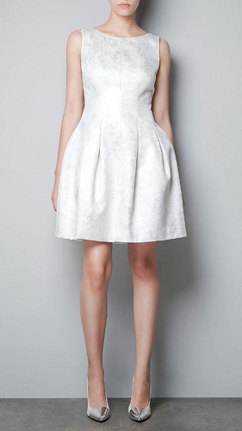 Clothing, Dress, Shoulder, Human leg, Joint, White, One-piece garment, Day dress, Pattern, Fashion,