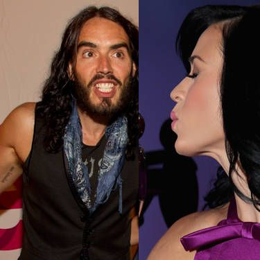 "Katy Perry and Russell Brand have matching sanskrit ink on their inner biceps that means ""go with the flow."" Their marriage lasted 14 months."