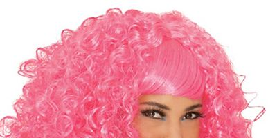 """Be the sweetest thing anyone has ever seen.<br /><br />  <b>From Your Closet:</b> A sexy white dress. <b>What to Buy:</b> Pink curly wig, $24.99, <a href=""""http://www.partycity.com/product/pink-a-licious+curly+wig.do"""" target=""""_blank"""">PartyCity.com</a>"""