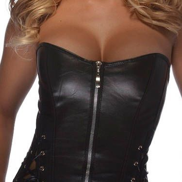 """Unleash your inner tough girl with this edgy look.<br /><br /><b>From Your Closet:</b> Black leggings, boots, and a bandana.<br /><b>What to Buy:</b> Black faux leather corset, $33.99, <a href=""""http://www.corsetchick.com/servlet/the-1828/leather-corset%2C-faux-leather/Detail"""" target=""""_blank"""">corsetchick.com</a>"""