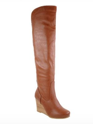 "<p>Wedges are a classic (and more comfortable!) way to add a little <em>oomph</em> to your outfit.</p> <p>$79.95, <a href=""http://www.chineselaundry.com/shopallbrands/boots/vision-soft-goat?color=cognac"" target=""_blank"">Chinese Laundry</a></p>"