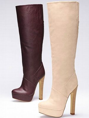 "<p>Tall, high-heeled, leather boots came into style in mami's time and they never get old. Add a twist by picking up a pair in <a href=""http://www.cosmopolitan.com/cosmo-latina/street-style/how-to-wear-oxblood"" target=""_blank"">oxblood</a> or ivory.</p> <p>$98, <a href=""http://www.victoriassecret.com/shoes/all-boots/platform-slouch-boot-colin-stuart?ProductID=67737&CatalogueType=OLS"" target=""_blank"">Victoria's Secret</a></p>"