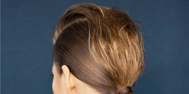 Ear, Hairstyle, Shoulder, Style, Neck, Long hair, Blond, Brown hair, Earrings, Hair coloring,