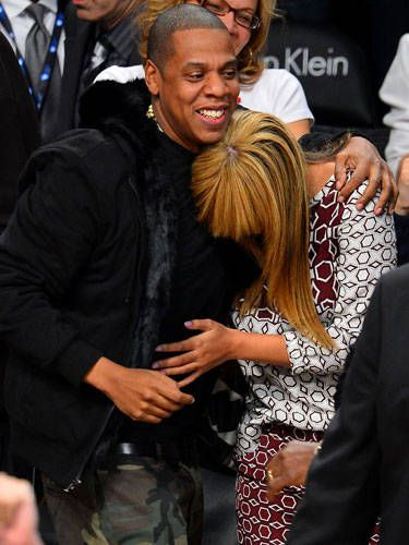 We'd like to nominate Jay-Z and Beyonce for the title of Cutest Couple Ever—just saying. Check out this adorable pic—by nuzzling Beyonce into his arm, Jay-Z shows he loves feeling like her protector.