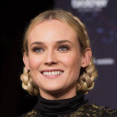 We're suddenly deeply into Swiss Miss chic, ever since the German stunner showed up at the Champs Elysees Christmas lighting ceremony with these glamorously coiled, golden braids.