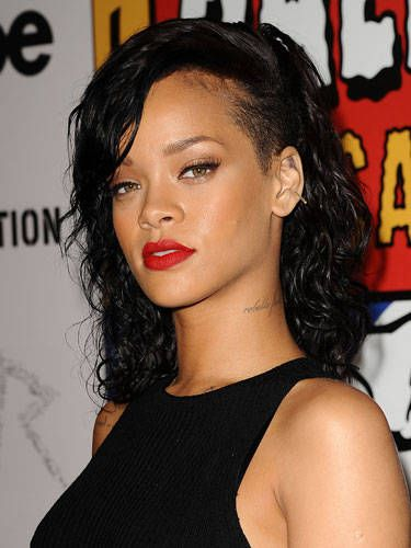 Lip, Hairstyle, Eyebrow, Eyelash, Earrings, Style, Black hair, Neck, Eye liner, Sleeveless shirt,
