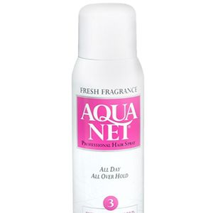 <p>The hair in the 80s and 90s called for a lot of hold! Sometimes, ever wonder how our mami's and tias ever got those crazy undoes to stay in place? Aqua Net—it's cheap and does the job. </p>