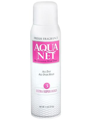 """<p>The hair in the 80s and 90s called for a lot of hold! Sometimes, ever wonder how our mami's and tias ever got those crazy undoes to stay in place? Aqua Net—it's cheap and does the job. </p><p>$1.89, <a href=""""http://www.walgreens.com/store/c/aqua-net-professional-hair-spray-fresh-fragrance/ID=prod5458026-product?ext=gooBeauty_PLA_Hairspray_prod5458026_pla&adtype={adtype}&Kpid=prod5458026&sst=3a607f87-5f2a-24a9-13cc-000009984c21"""" target=""""_blank"""">Walgreens</a></p>"""