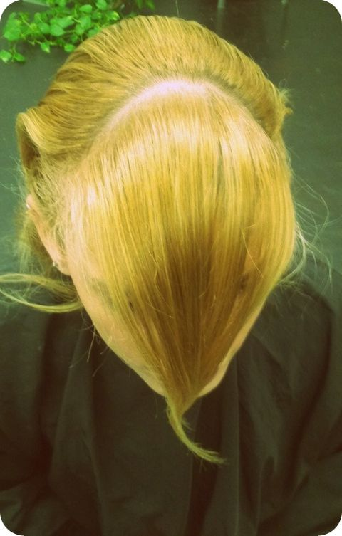 Part a section for the front fringe, as shown in the photo.