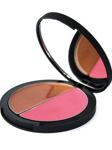 "<p>Recreate your summery flush with this tried-and-true makeup artist trick: Blend a bronzey shade over cheekbones, followed by a sheer pink hue over apples of cheeks. This genius compact comes with both!</p>  <p>Jemma Kidd Contour & Flush Creme Blush Duo, $30, <a href=""http://www.dermstore.com/product_Contour+and+Flush+Creme+Blush+Duo_19692.htm"">dermstore.com</a></p>"