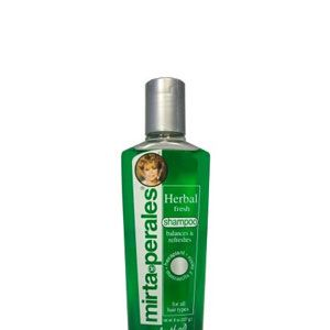 """<p>You don't have to be Cuban to recognize beauty icon Mirta de Perales. Every Latina has had this shampoo slathered on their hair at one point, and we know a lot still swear by it! The line has grown now, including a new kertatin-infused set.</p><p><a href=""""http://www.mirtadeperales.us/"""" target=""""_blank"""">MirtadePeralis.us</a></p><p> </p>"""