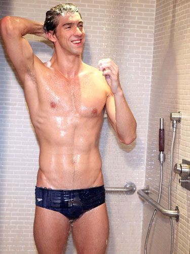 The Olympic champ suds up in the shower at the Soho House in NYC to announce his partnership with Head & Shoulders and…sorry, we got a little distracted.