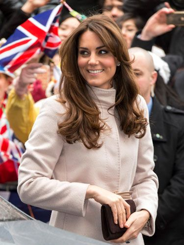 Kate's already Pantene-commercial-esque mane will become that much more voluminous. (Stronger hair and nails: One of the upsides to pregnancy, we think!)
