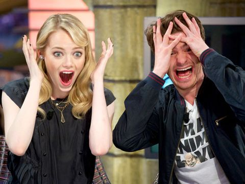 """<p><i>The Amazing Spider-Man</i> stars Emma Stone and Andrew Garfield areprobably our favorite celeb couple right now. Emma knows how to """"keep you on your toes,"""" <a href=""""http://www.usmagazine.com/celebrity-news/news/andrew-garfield-how-i-fell-for-emma-stone-2012126"""">according to Andrew</a>—and it's what attracted him to her right away. Regularly goofing off with your guy in surprising ways—and not being afraid to look silly in the process—will keep him (and you) hooked on each other.</p>"""