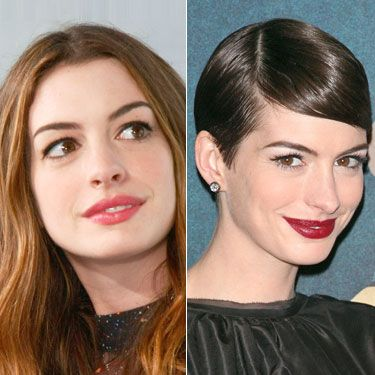 The actress has always been pretty much flawless – just check out her flowing ombre tresses – but her newly shorn, <i>Les Mis</i> pixie and oxblood lips give her a sleek new sophistication.