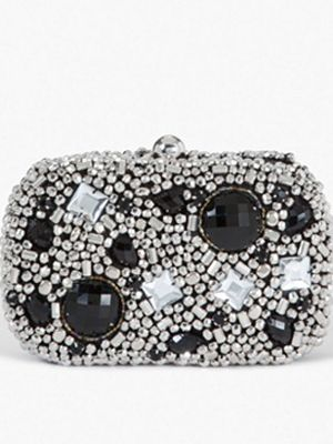"""<p>When you need to touch up, a rhinestone clutch like this one will hold all your belongings without you looking like the bag lady, and it's super cute.</p> <p> </p> <p>$69, <a href=""""http://www.bebe.com/Accessories/Clutches-Wallets/Bead-Rhinestone-Minaudiere/pc/245/c/0/sc/255/17704.pro"""" target=""""_blank"""">Bebe.com</a></p>"""