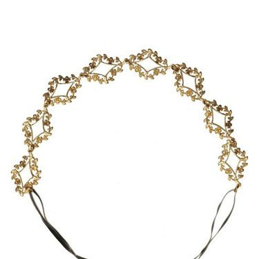 <p>A delicate, gold leaf headband is such a romantic accessory, whether you're rocking a sleek pixie or long, pre-Raphealite waves.</p>