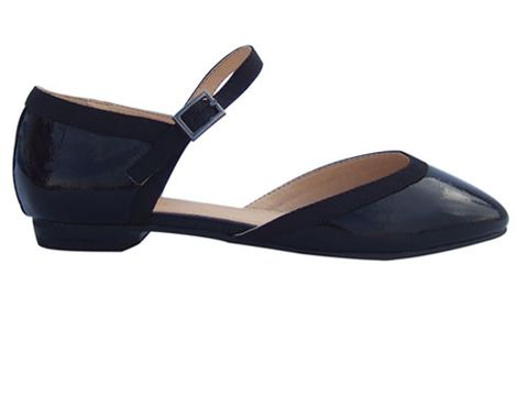 """Okay, okay, so these aren't <i>technically</i> flats, but a tiny heel could be just the boost your legs need without going full stiletto. <br /><br /> J. Crew collection Janey calf hair flats, $298, <a href=""""http://www.jcrew.com/womens_category/shoes/flats/PRDOVR~98541/98541.jsp"""" target=""""_blank"""">jcrew.com</a>"""