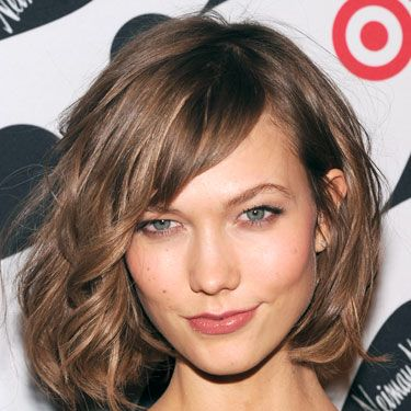 At a Target holiday event, the supermodel demonstrated how to sex up a standard bob. You pair tousled, slightly tangled bed-head curls with a thin flick of liquid liner, and go! The unstudied sexiness if it all will drive him insane.
