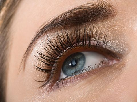 Dot liquid liner between lower lashes for the most natural look.