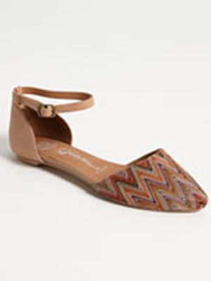 "<p>The zig-zags on this flat give a laid back feel we've been missing all winter long. Jeffrey Campbell's 'Lovins' flat gives us the perfect mix of cover up and sexy to lead into spring.</p> <p><a title=""d'Orsay flat"" href=""http://shop.nordstrom.com/s/jeffrey-campbell-lovins-flat/3398856?origin=category&contextualcategoryid=0&fashionColor=Orange%2F+Pink%2F+Nude&resultback=0%20"" target=""_blank"">$114.95</a></p>"