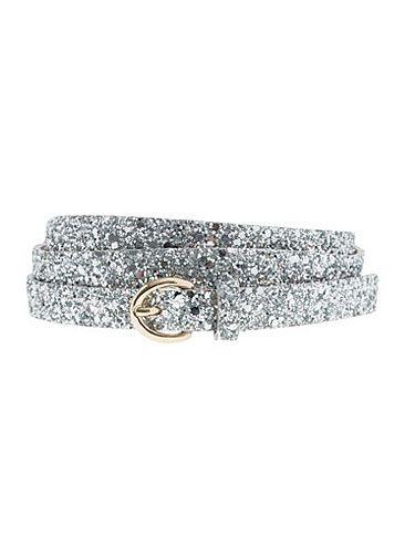 "Adding a little glitter to an LBD has never <i>not</i> gotten compliments. <br /><br /> Glitter round-buckle skinny belt, $34, <a href=""http://www.jcrew.com/womens_category/accessories/belts/PRDOVR~30032/30032.jsp?srcCode=AFFI00001&siteId=Hy3bqNL2jtQ-XXXgkaryEYRbahGo9SDG%2Ag"" target=""_blank"">JCrew.com</a>"