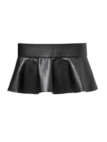"We're running a little raw on the peplum trend, but strapping a little frill onto your go-to dress can make it look like a whole new frock. <br /><br /> Wide peplum belt, $30, <a href=""http://www.zara.com/webapp/wcs/stores/servlet/product/us/en/zara-us-W2012/271008/937022/WIDE%2BPEPLUM%2BBELT"" target=""_blank"">Zara.com</a>"