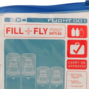 <p>Fill these airline approved bottles with your fave beauty products. The ziplock case is leak proof!</p>