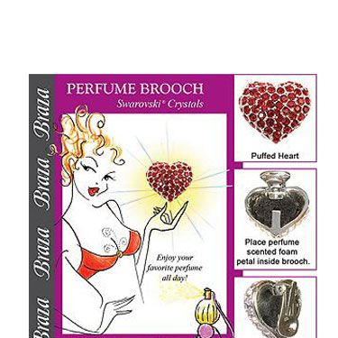 <p>So sneaky! Simply spritz one of the enclosed foam petals with your favorite scent, and tuck it inside the brooch. You'll smell delicious all day…and night.</p>