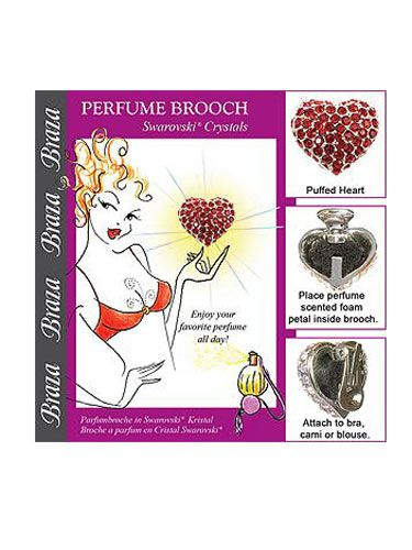 """<p>So sneaky! Simply spritz one of the enclosed foam petals with your favorite scent, and tuck it inside the brooch. You'll smell delicious all day…and night.</p>  <p>Braza Perfume Brooch-Puffed Heart with Swarovski Crystals, $14, <a href=""""http://www.beauty.com/braza-perfume-brooch-puffed-heart-swarovski-crystals-siam-one-size/qxp359359?catid=298705&N=0"""" target=""""_blank"""">beauty.com</a></p>"""