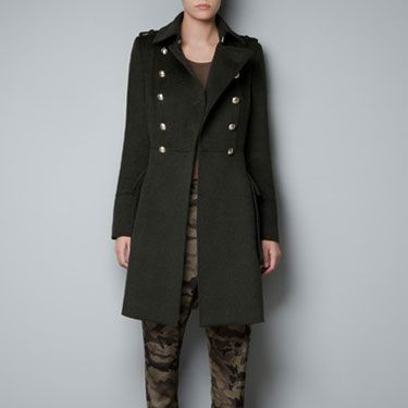 <p>Military coats are chic and cool at the same time. Take command of winter in this bad boy from Zara.</p>